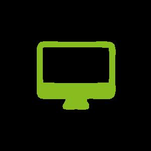 Symbol gruen Computer