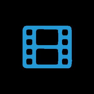 Symbol blau Filmstreifen
