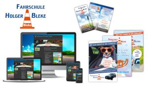 Referenzen Fahrschule Bleke / Logo, Flyer, Plakate, Website