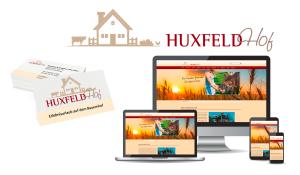 Referenzen HuxfeldHof / Logo, Visitenkarte und Website