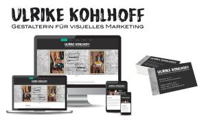 Referenzen Ulrike Kohlhoff / Logo, Visitenkarten, Website