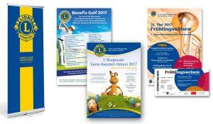 Referenzen Lions Club Worpswede / Plakate, Roll-Up, Eintrittskarten