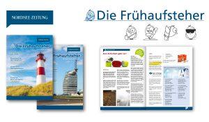 """Referenzen Mitarbeitermagazin Nordsee Zeitung """"Die Frueaufsteher"""""""